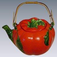 Vintage Red Hot Tomato Teapot, Japan