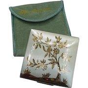 Elgin American Compact in Silver-Tone Metal, Flowering Tree Image