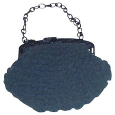 1930s Crocheted Purse with Bakelite Frame