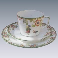 Child's Dinner Set, Cup, Saucer, and Plate, Austria