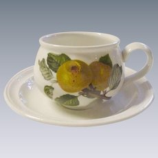 Portmeirion Demi Cup and Saucer, Pomona with Apples