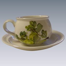 Portmeirion, England, Demitasse Cup and Saucer, Pomona Design