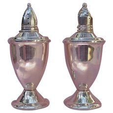 Sterling Silver Salt and Pepper Shakers, Glass Lined