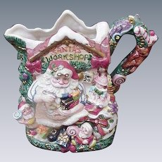 Fitz and Floyd Whimsical Christmas Pitcher