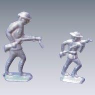 Pair of WWI Toy Metal Soldiers