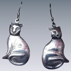 Vintage Cat Earrings for Pierced Ears