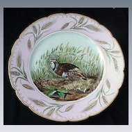Charles Field Haviland Porcelain Bird Plate w Wheat