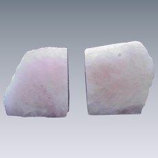 Pink Quartz Bookends
