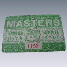 1978 Master's Golf Tournament Badge