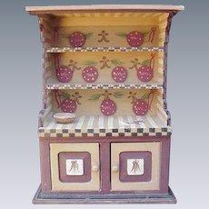 Vintage Toy Gingerbread  Hutch