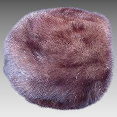 Gorgeous Dark Brown Ranch Mink Hat