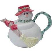 Fitz and Floyd Snowman Teapot