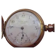 Antique Ladies' Pocket Watch with Floral Hunter Case