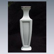 Lenox White Porcelain Vase with Silver Accents