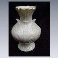 Vintage Lenox Vase, Leaf Forms Molded in Porcelain