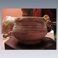 Vintage Silver Springs, Florida,  Pottery Bowl, Unglazed