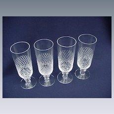 Kosta Clear Crystal, Diamond Banded Irish Coffee Glasses