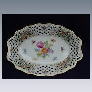 Schumann Bavaria, U.S. Zone, Germany, Porcelain Bowl, Dresden Flowers