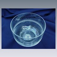 Pairpoint Cut Crystal Bowl with Etched Dogwood Design