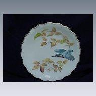 "Royal Worcester ""The Birds of Dorothy Doughty Dessert Plates"", Kingfisher & Autumn Beech"