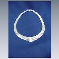 Striking Vermeil Sterling Silver .925 Collar Necklace