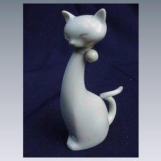 Vintage Porcelain Cat Figurine, Stylized Body