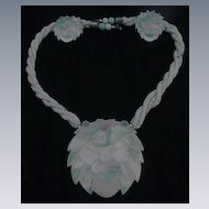 Lee Sands Lion's Head Necklace and Earrings