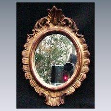 Vintage Florentine Framed Mirror, Italy