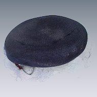 Cocktail Hat with Rhinestone Clasps