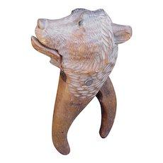 Black Forest Carved Nutcracker, Bear Head