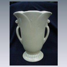 Big Yellow Mid-Century Pottery Vase