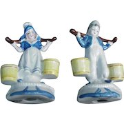 Pair of Occupied Japan Figurines, Dutch Boy and Girl