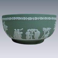 Green Wedgwood Jasperware Bowl, England