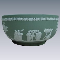 Green Wedgwood Jasperware Bowl, England