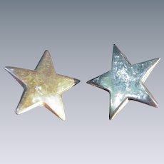 Vintage Sterling Star Shaped  Earrings for Pierced Ears