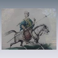 Horse Print of Mameluck Scout by French Artist Carle Vernet