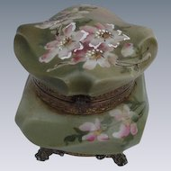 Nakara Box by C.F. Monroe, Green with Pink Flowers