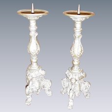 Vintage Pair of Altar Candlesticks
