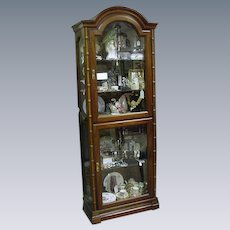 Lighted, Double-Door Display Cabinet with Beveled Glass