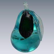 Murano Glass Pear  Paperweight