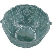 Fostoria Navarre Ice Bucket, Etched Elegant Glass