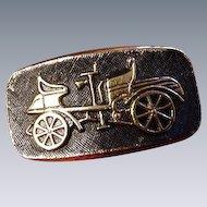 Vintage Model-T Cuff Links, Gold-Tone, Black Background
