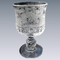 Paden City, Black Forest Pattern, Clear Water Goblet