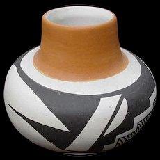 Native American Stella Teller, Isleta Pueblo Vase, New Mexico - Red Tag Sale Item
