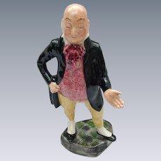 Vintage Figurine of Charles Dickens Character, Mr. Micawber