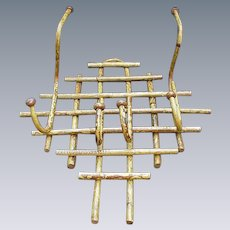 Vintage Bamboo Hat Rack