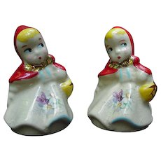 Hull Red Riding Hood Salt and Pepper Shakers