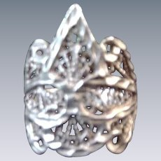 Vintage .925 Sterling Filigree Ring
