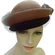 Christine Original, Park Avenue, New York, Two-Tone Brown Cloche