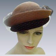 Christine Original, Park Avenue, New York, Two-Tone Brown Cloche